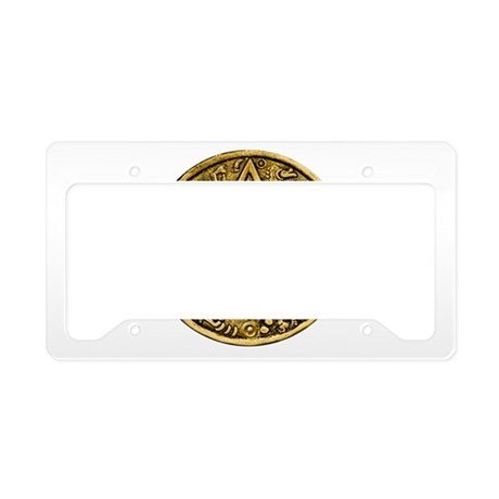 Gold Silver Sun Dial License Plate Holder