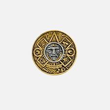 Gold Silver Sun Dial Mini Button