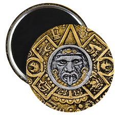Gold Silver Sun Dial Magnet