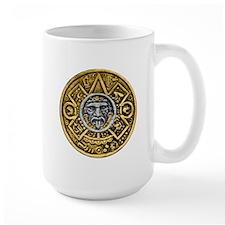 Gold Silver Sun Dial Mug