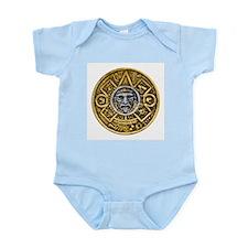 Gold Silver Sun Dial Infant Bodysuit