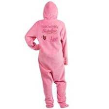 FabPinkBrownAunt.png Footed Pajamas