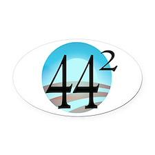 44 squared. Obama is President. Oval Car Magnet