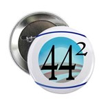 """44 squared. Obama is President. 2.25"""" Button"""