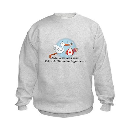 Stork Baby Can Pol Ukr Kids Sweatshirt