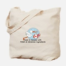 Stork Baby Can Pol Ukr Tote Bag