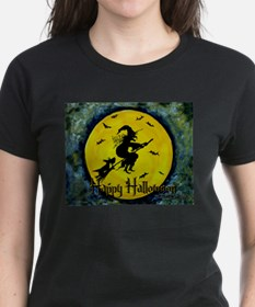 Scottish Terrier and Halloween Witch Tee