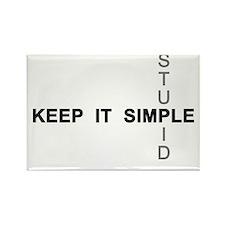 Keep it simple. Stupid. Rectangle Magnet