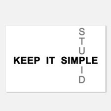 Keep it simple. Stupid. Postcards (Package of 8)
