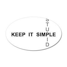 Keep it simple. Stupid. Wall Decal