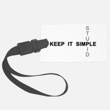 Keep it simple. Stupid. Luggage Tag