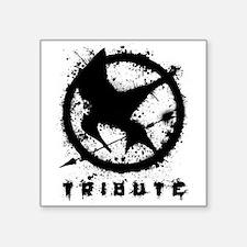 "Hungerjay 1 Black (Splatter) Square Sticker 3"" x 3"