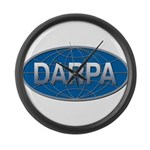DARPA logo Large Wall Clock