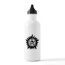 Anti-Possession Symbol Black (Splatter) Water Bottle