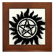 Anti-Possession Symbol Black (Splatter) Framed Til