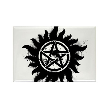 Anti-Possession Symbol Black (Splatter) Rectangle