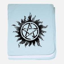 Anti-Possession Symbol Black (Glow) baby blanket