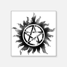 Anti-Possession Symbol Black (Glow) Square Sticker