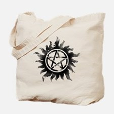 Anti-Possession Symbol Black (Glow) Tote Bag