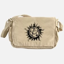 Anti-Possession Symbol Black (Glow) Messenger Bag
