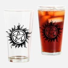 Anti-Possession Symbol Black (Glow) Drinking Glass