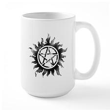Anti-Possession Symbol Black (Glow) Mug