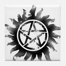 Anti-Possession Symbol Black (Glow) Tile Coaster