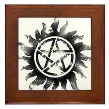 Anti-Possession Symbol Black (Glow) Framed Tile