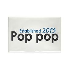 Pop Pop Est 2013 Rectangle Magnet