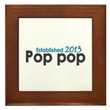 Pop Pop Est 2013 Framed Tile