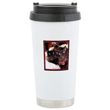 Three Cats Travel Coffee Mug