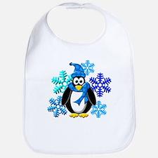 Penguin Snowflakes Winter Design Bib