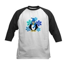 Penguin Snowflakes Winter Design Tee