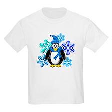Penguin Snowflakes Winter Design T-Shirt