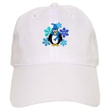 Penguin Snowflakes Winter Design Baseball Cap