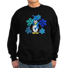 Penguin Snowflakes Winter Design Sweatshirt