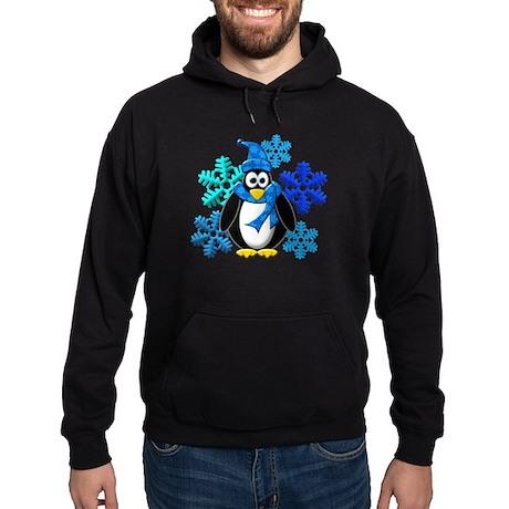 Penguin Snowflakes Winter Design Hoodie (dark)