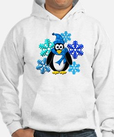 Penguin Snowflakes Winter Design Hoodie