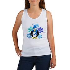 Penguin Snowflakes Winter Design Women's Tank Top