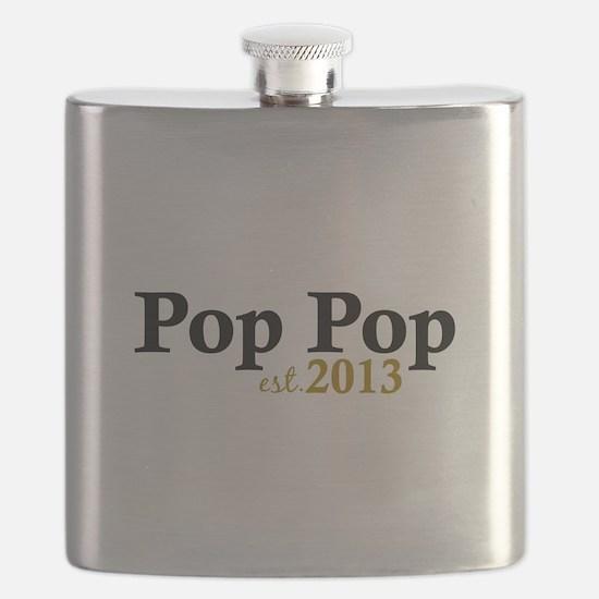 Pop Pop Est 2013 Flask