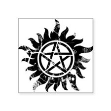Anti-Possession Symbol Black (Cracked) Square Stic