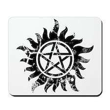 Anti-Possession Symbol Black (Cracked) Mousepad