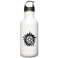 Anti-Possession Symbol Black (Cracked) Water Bottle