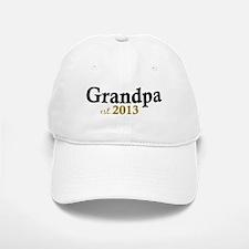 New Grandpa Est 2013 Baseball Baseball Cap