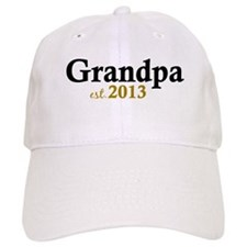 New Grandpa Est 2013 Baseball Cap