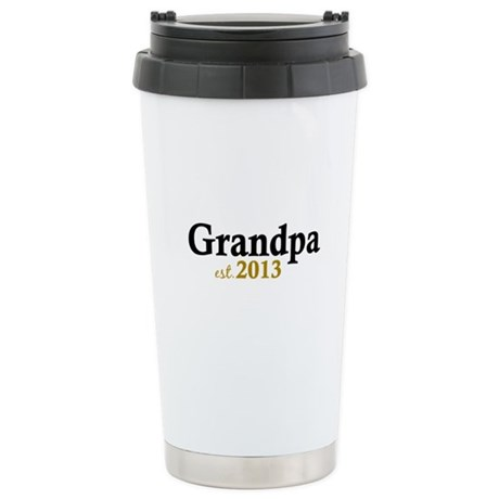 New Grandpa Est 2013 Stainless Steel Travel Mug