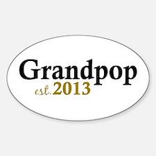 Grandpop Est 2013 Decal