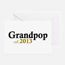 Grandpop Est 2013 Greeting Card