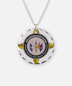 EUCOM emblem Necklace Circle Charm