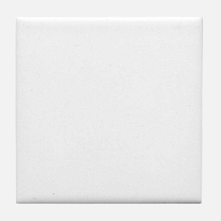 SuperWolf White Tile Coaster